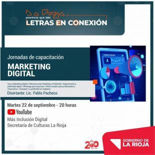 Invitan a participar del taller de Marketing Digital