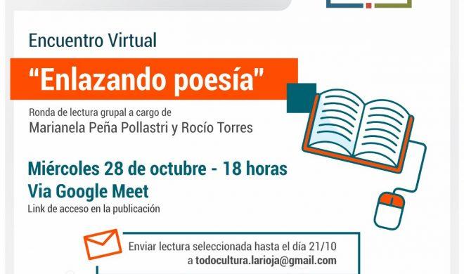 """La Secretaría de Culturas convoca al taller virtual """"Enlazando poesía"""""""